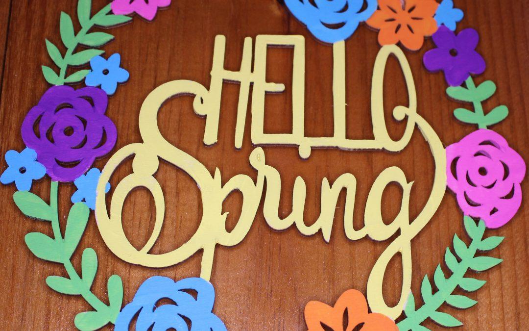 Hello Spring decor