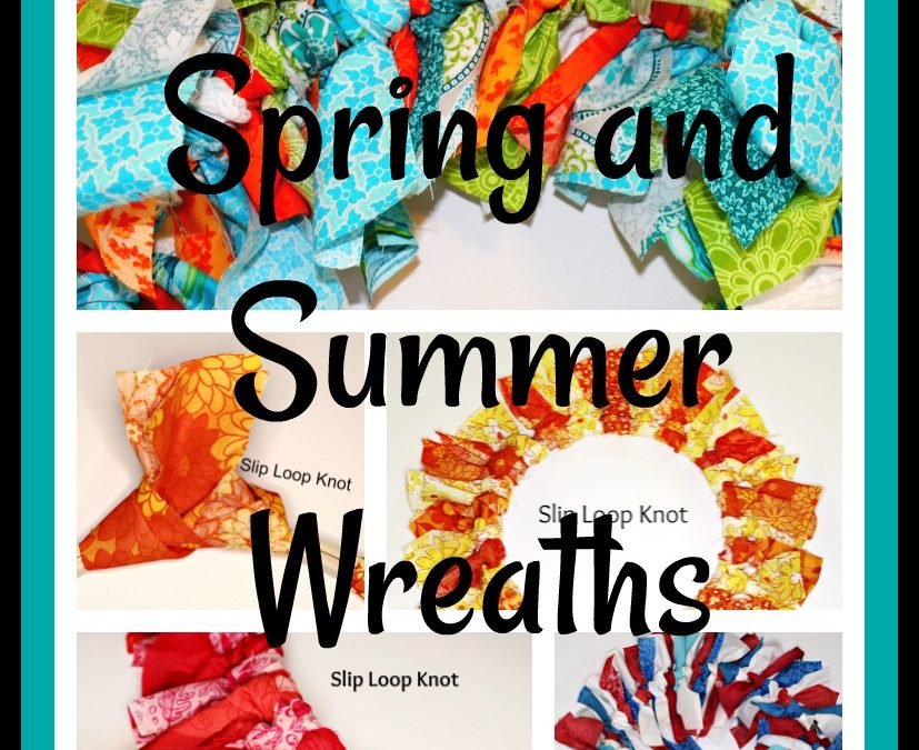 5 Rag Wreaths for Spring and Summer