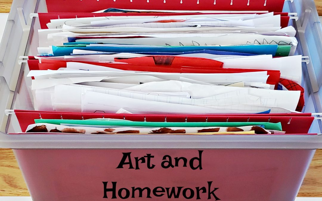 Organize Kids' Art and School Work
