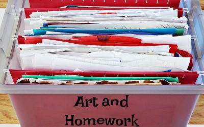 Organize Kids' Art and School Work
