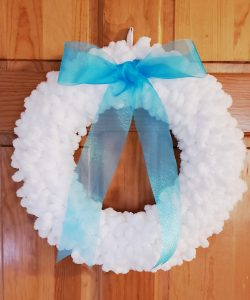 loop yarn wreath