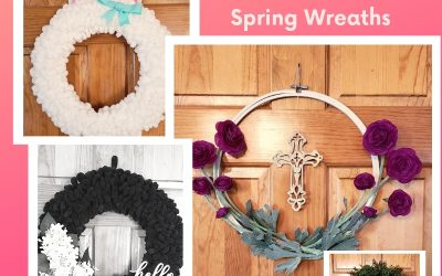 4 DIY Spring and Easter Wreaths