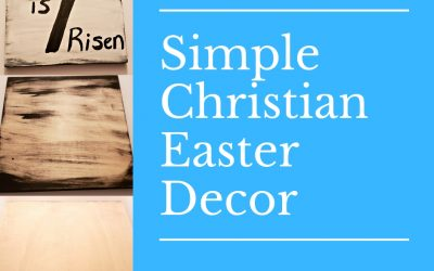 Simple Christian Easter Wood Sign