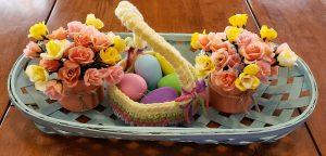 oui jars flowers Easter decorating ideas