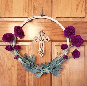 hoop wreath easter