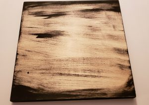 wood canvas with black