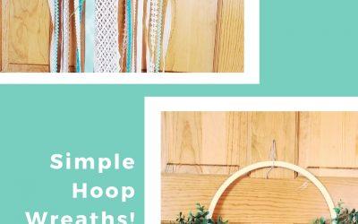 DIY Floral Hoop Wreaths