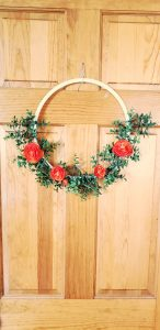 DIY Medium Floral Hoop Wreath