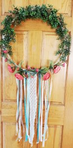 DIY Large Floral Hoop Wreath