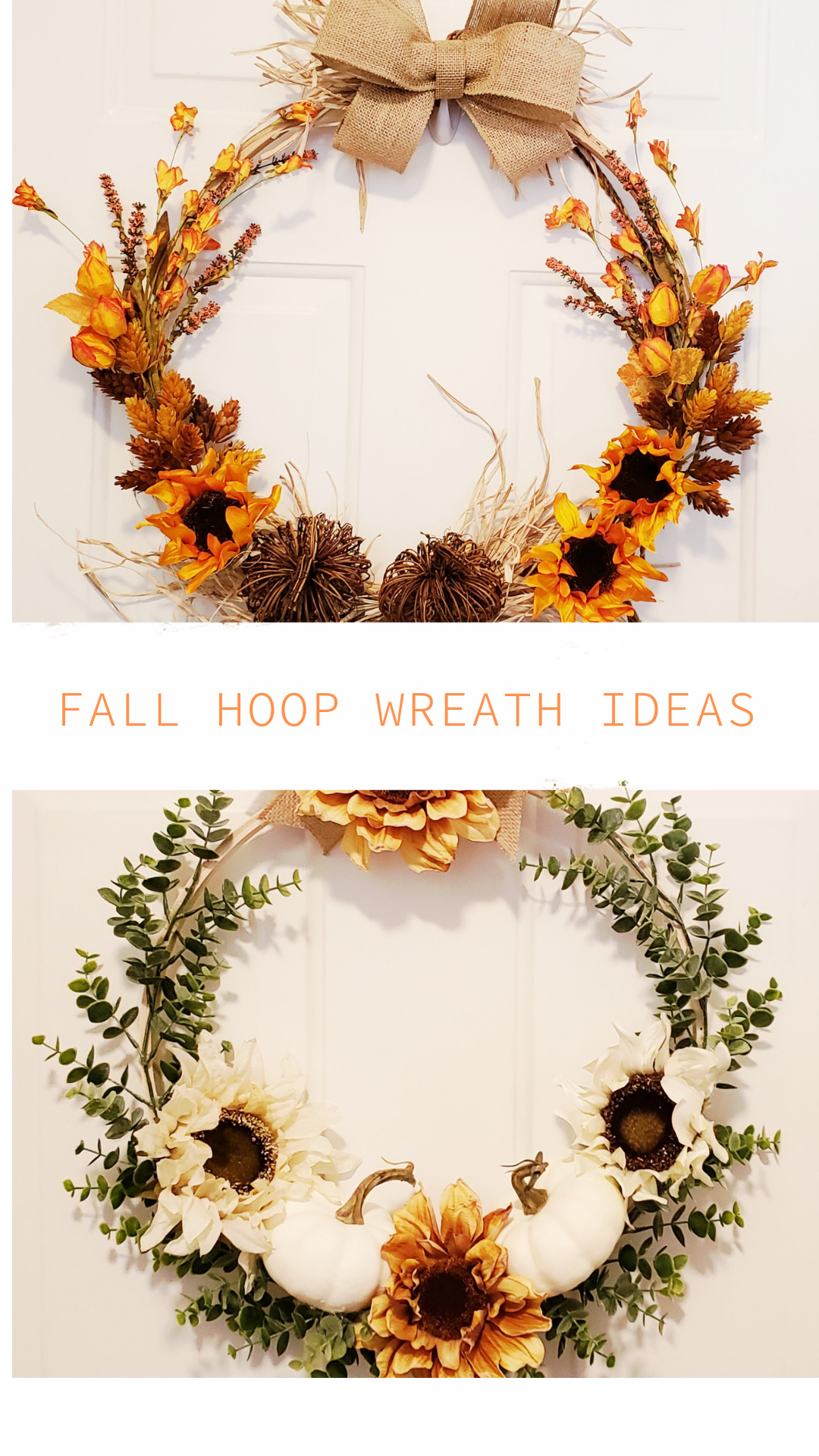 Fall Hoop Wreath Ideas Crafts Decor And Family