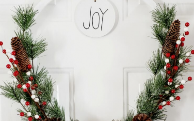 JOY Christmas Hoop Wreath
