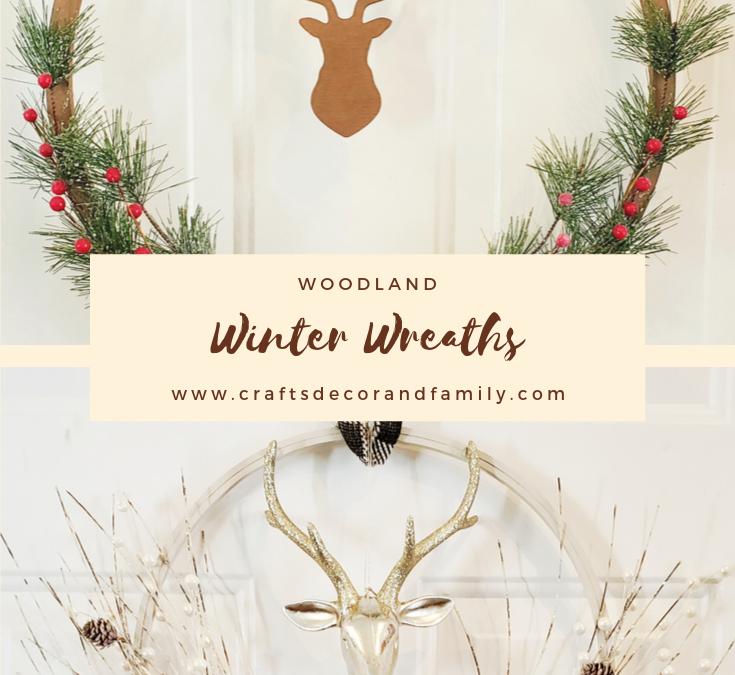 Woodland winter wreaths