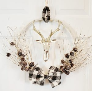 white deer wreath