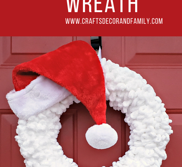 Santa Yarn Wreath