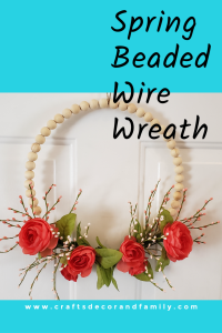 spring beaded wire wreath title