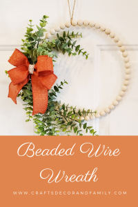 wire beaded wreath