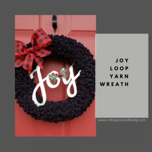 Joy Loop Yarn Wreath