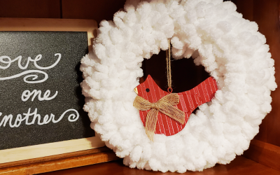 Memorial Cardinal Mini-Wreath