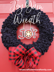 Joy Yarn Wreath