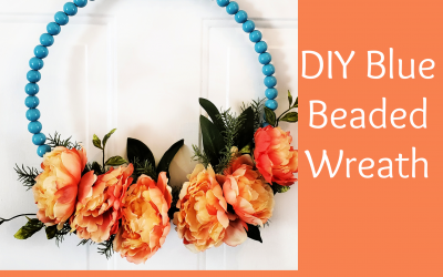 DIY Blue Beaded Wreath