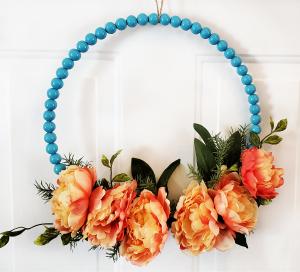 Blue Beaded Wreath