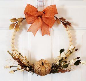 Neutral pumpkin wreath